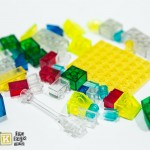 Mixed Job Lot of Transparent Glass Bricks and Parts