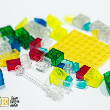 Mixed Job Lot of Transparent Glass Bricks and Parts