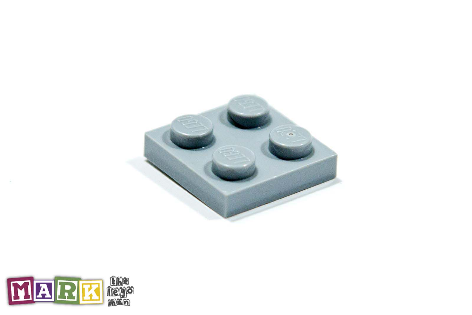 Lego 4211397 3022 1x Light Blueish Grey Md Stone Medium Standard Grey 2x2 Plate