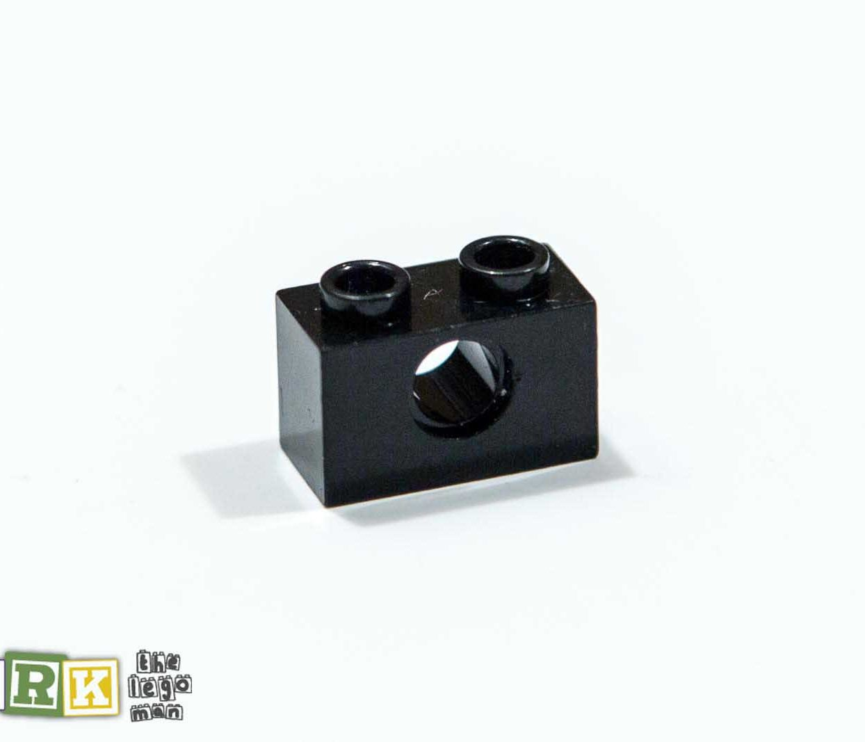 Lego 370026 3700 1x Black 1x2, 4,85 Technic Brick with one Hole