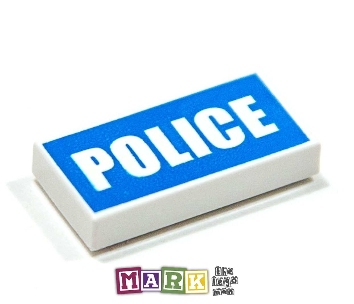 "Lego 93073 1x2 Police Printed Flat Tile ""No. 115"" 4598827"