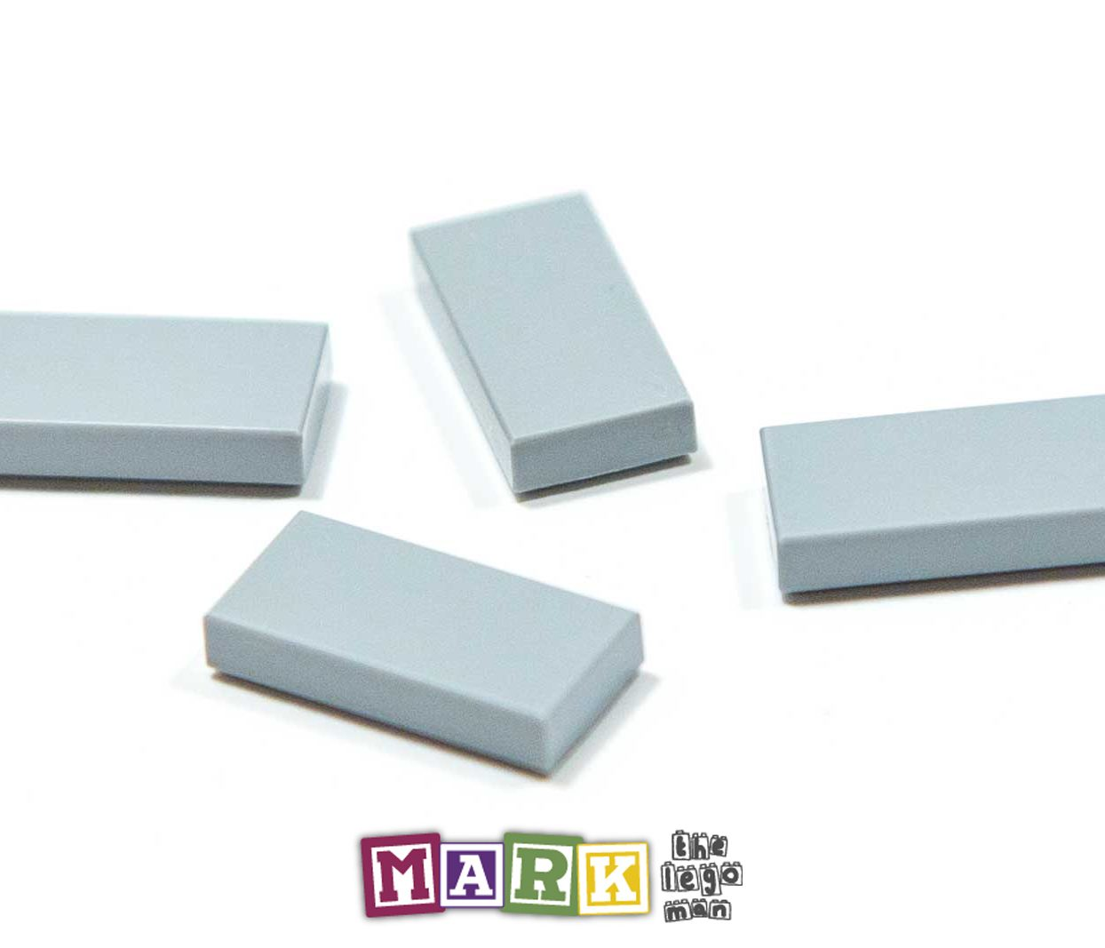 Pack of 4 New Lego 3069 1x2 Flat Tile 4211414