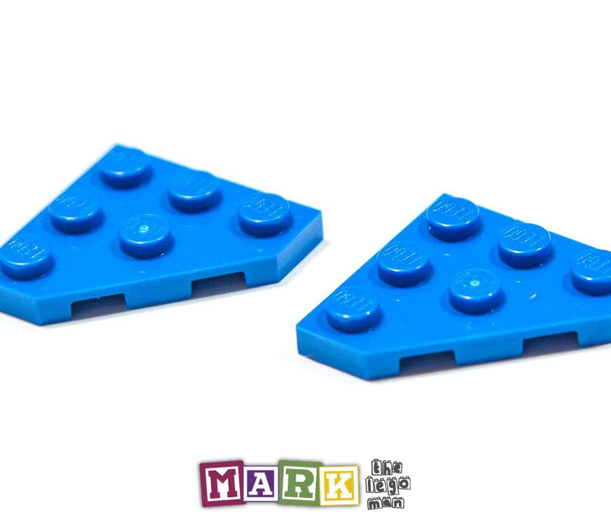 Pack of 2 New Lego 2450 3x3 45 Degree Corner Plate 4609330