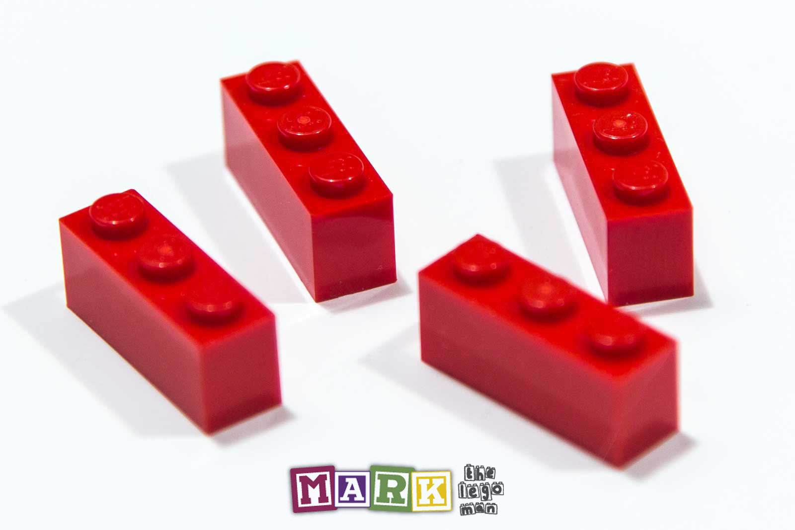 Pack of 4 New Lego 3622 1x3 Brick 362221
