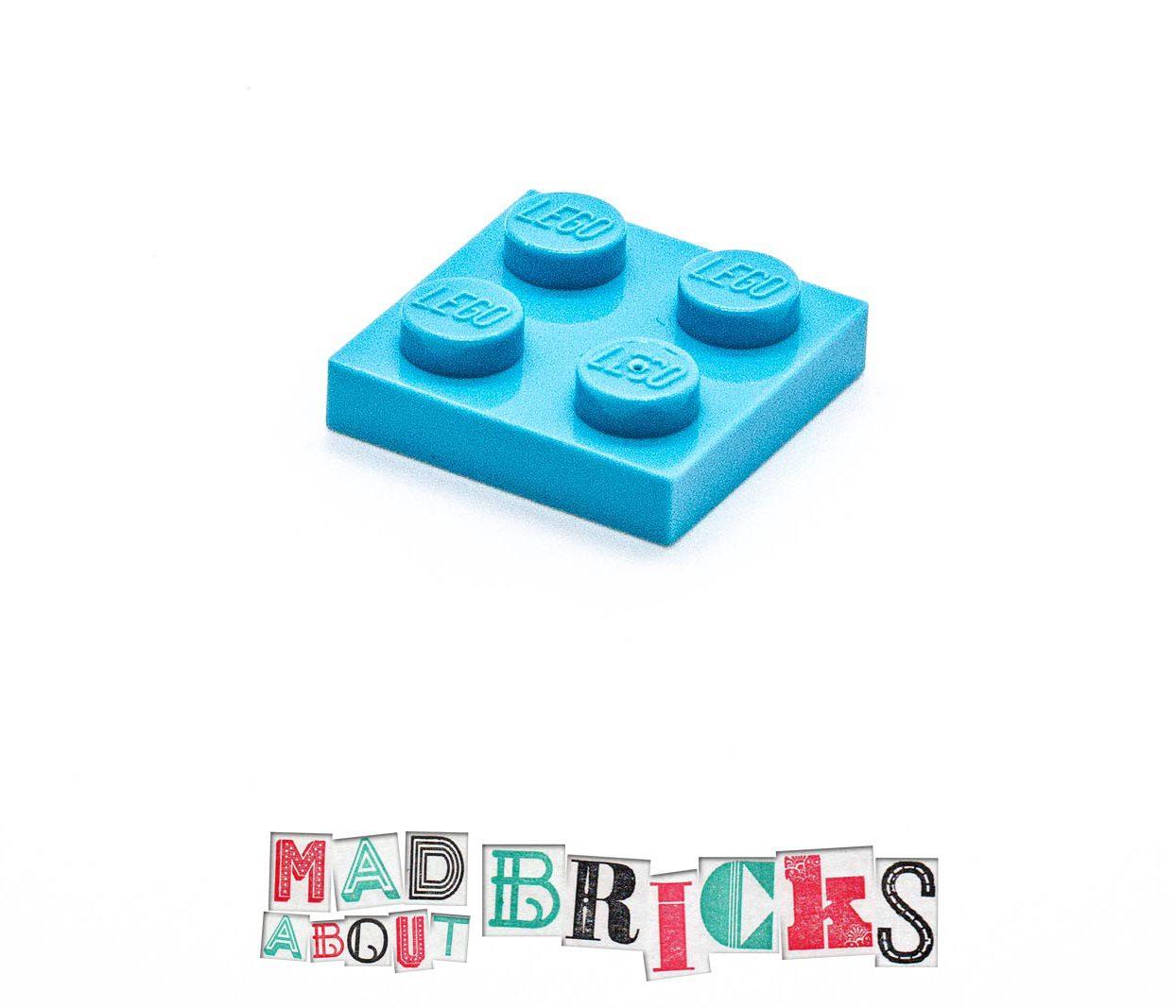 Lego 4585677 3022 1x Maersk Blue 2x2 Plate Top