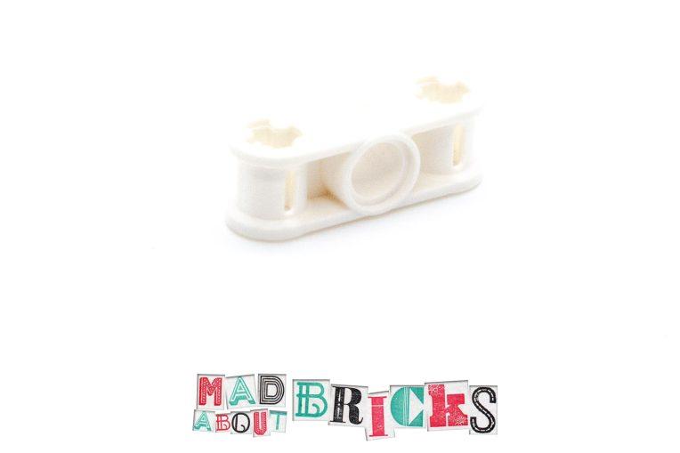 Lego 6114940 32184 1x White Double Cross Block front