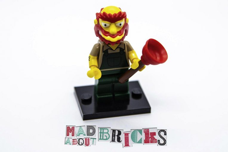 New Lego Minifig Complete Groundskeeper Willie The Simpsons Series 2 71009-13