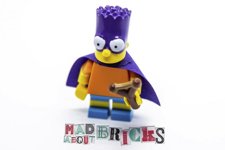 New Lego Minifig Complete Bartman, The Simpsons, Series 2 71009-5