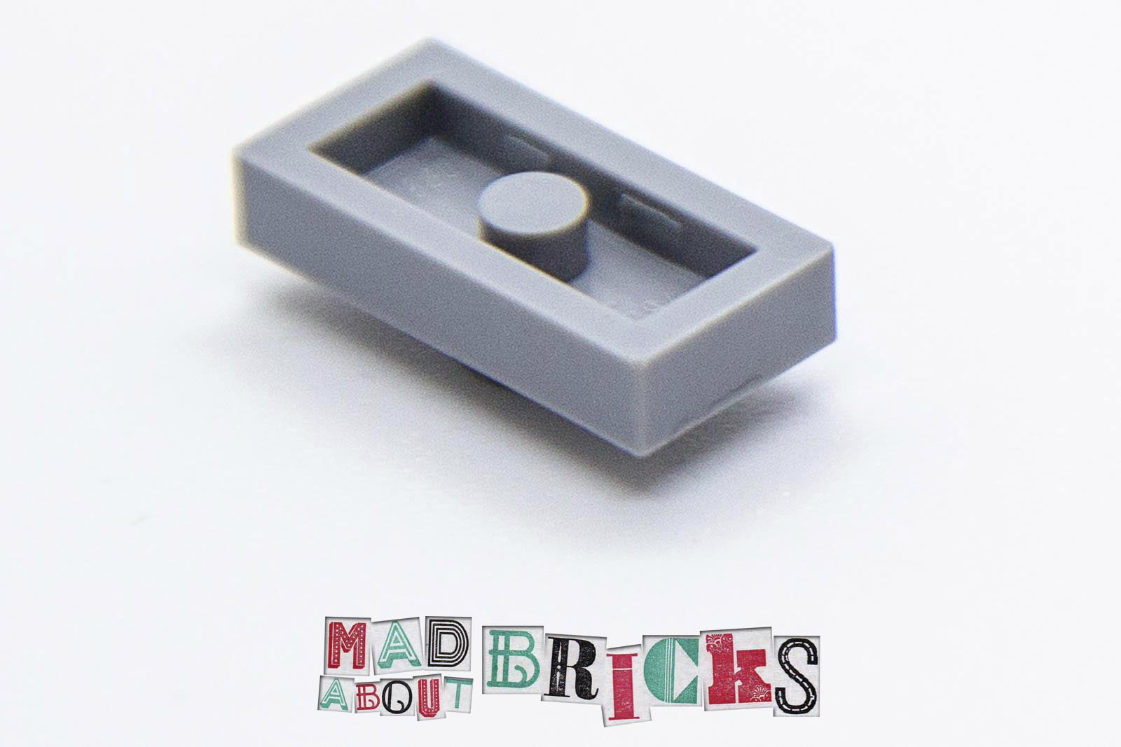 15573 QTY X10 NEW Light Bluish Grey 1x2 Tile Plate With 1 Stud LEGO®